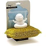 Peleg Design Yogi Sponge Holder, Plastic Sponge Holder for Kitchen Sink and Bath with Suction Up, Dish Sponge Caddy Holder, Dries All Types of Sponges, 1 Sponge Included
