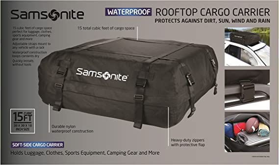 Amazon Com Samsonite Rooftop Cargo Carrier 100 Waterproof Automotive