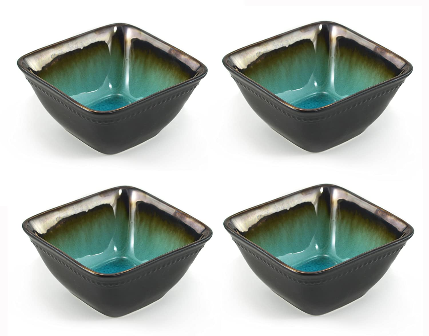 Tannex Bali Square 4-Piece Bowl Set, 5.7-Inch 92277-4P