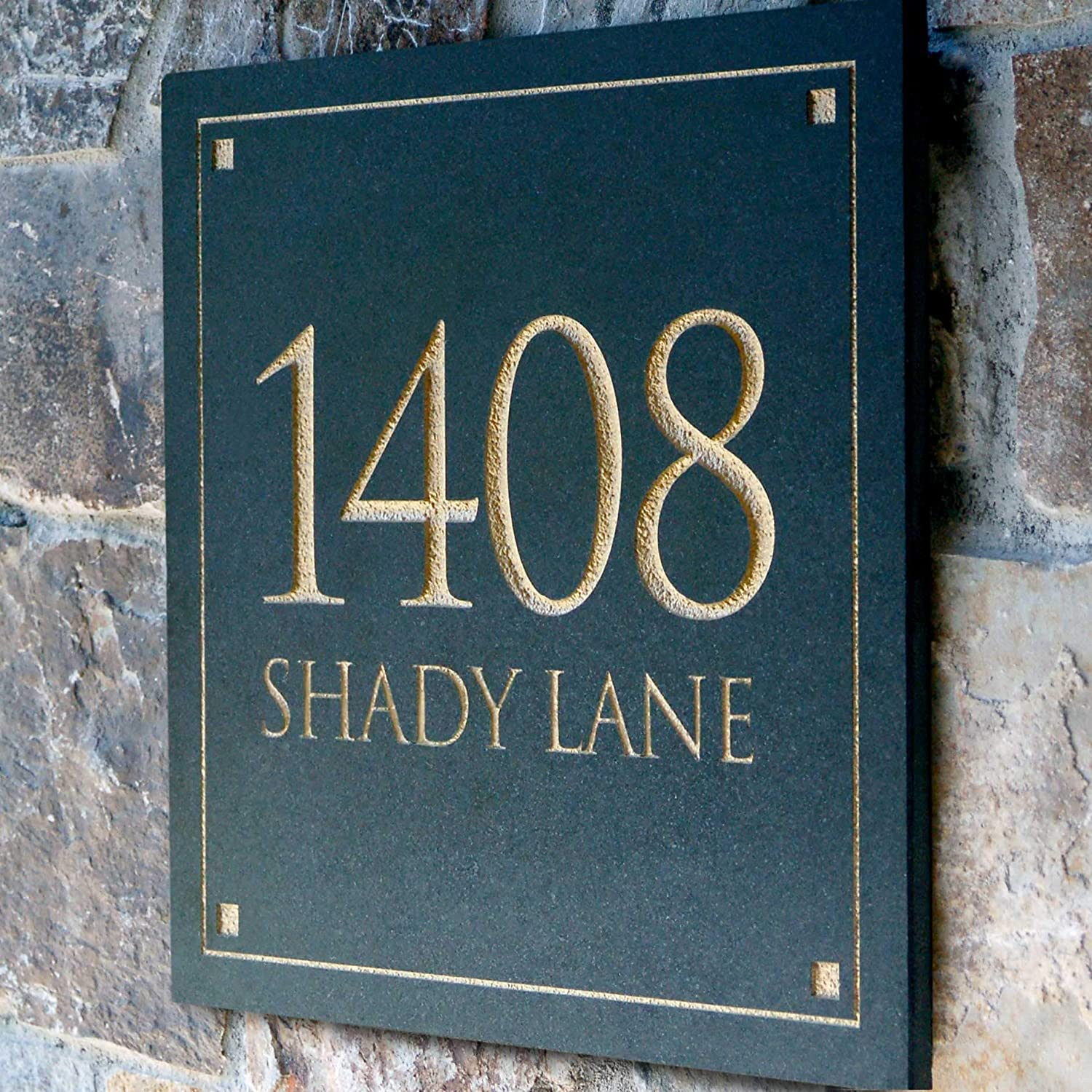 Engraved Stone Address Plaque These Plaques Are Made From Solid Real Stone Amazon Co Uk Office Products
