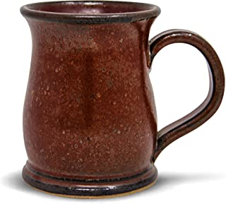 product image for Handmade Stoneware Coffee Mug Sunfire Red Glaze 16oz