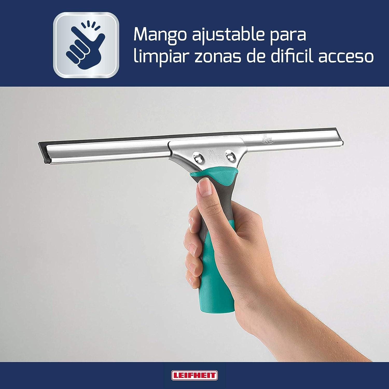 Leifheit Limpiacristales Professional, limpiaventanas con regleta de goma para una limpieza sin huellas, rasqueta limpiacristales con mango de goma: Amazon.es: Hogar