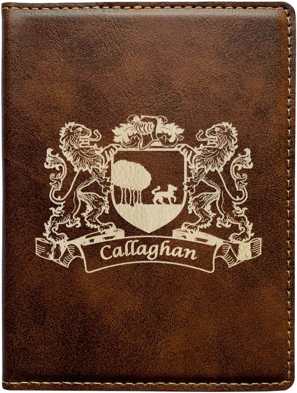 Callaghan Irish Coat of Arms Leather Passport Wallet