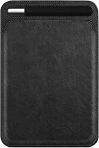 """Fintie Sleeve with Pencil Holder for iPad Air 4th Gen 10.9"""" 2020, iPad Pro 11"""" 2020/2018, Slim Fit Vegan Leather Protective Cover Carrying Case Bag, Compatible with iPad 10.2""""/ iPad Air 10.5"""", Black"""