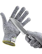 Guantes Anticorte, Yokamira Guantes Resistentes a Los Cortes Nivel 5 Seguridad para Cocina Trabajo Mecanico y Jardín - Guantes Resistentes al Corte de Proteccion Certificación EN 388, 1 Par