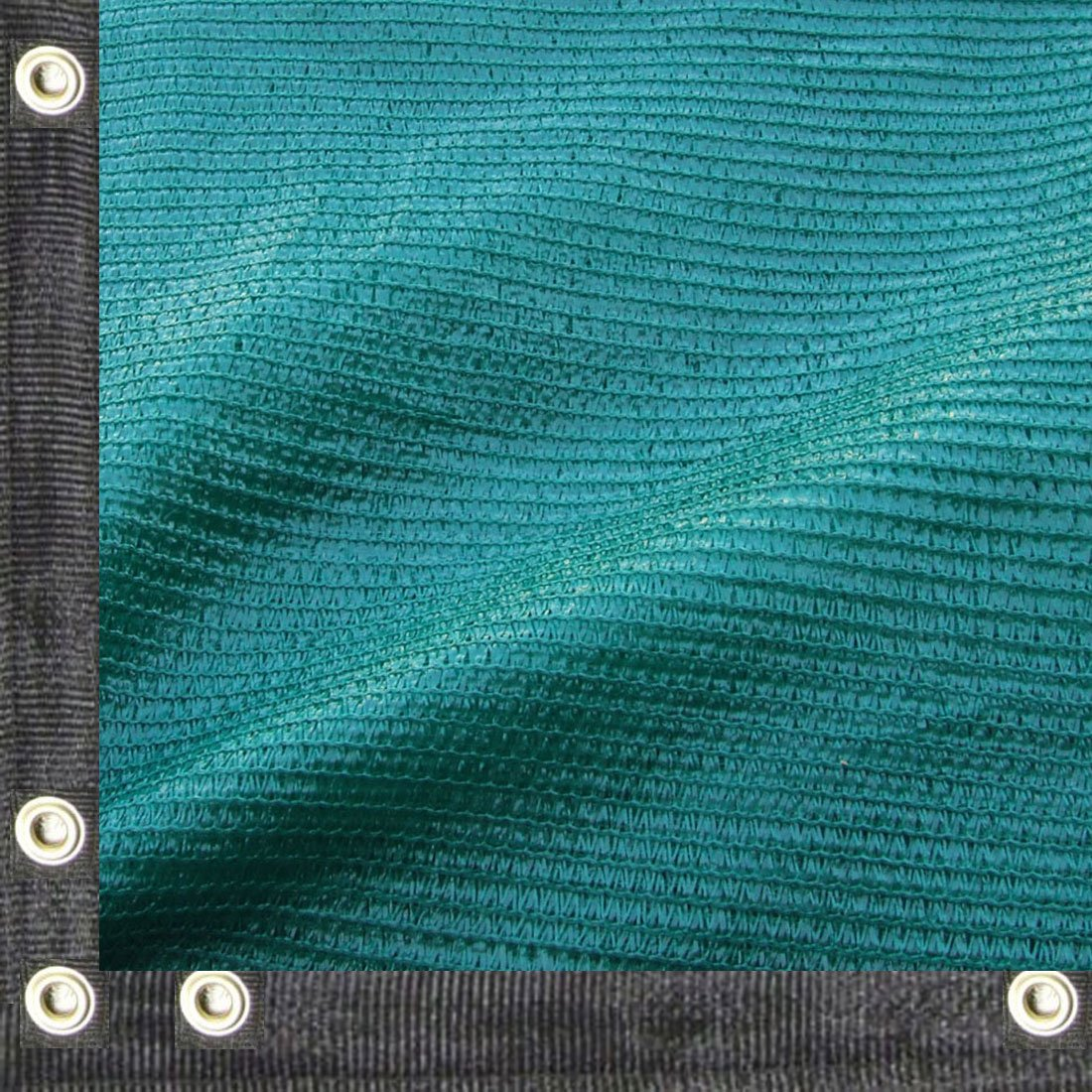 Yisin 50% Green Shade Cloth Taped Edge with Grommets UV 20 ft X 48 ft by EasyShade