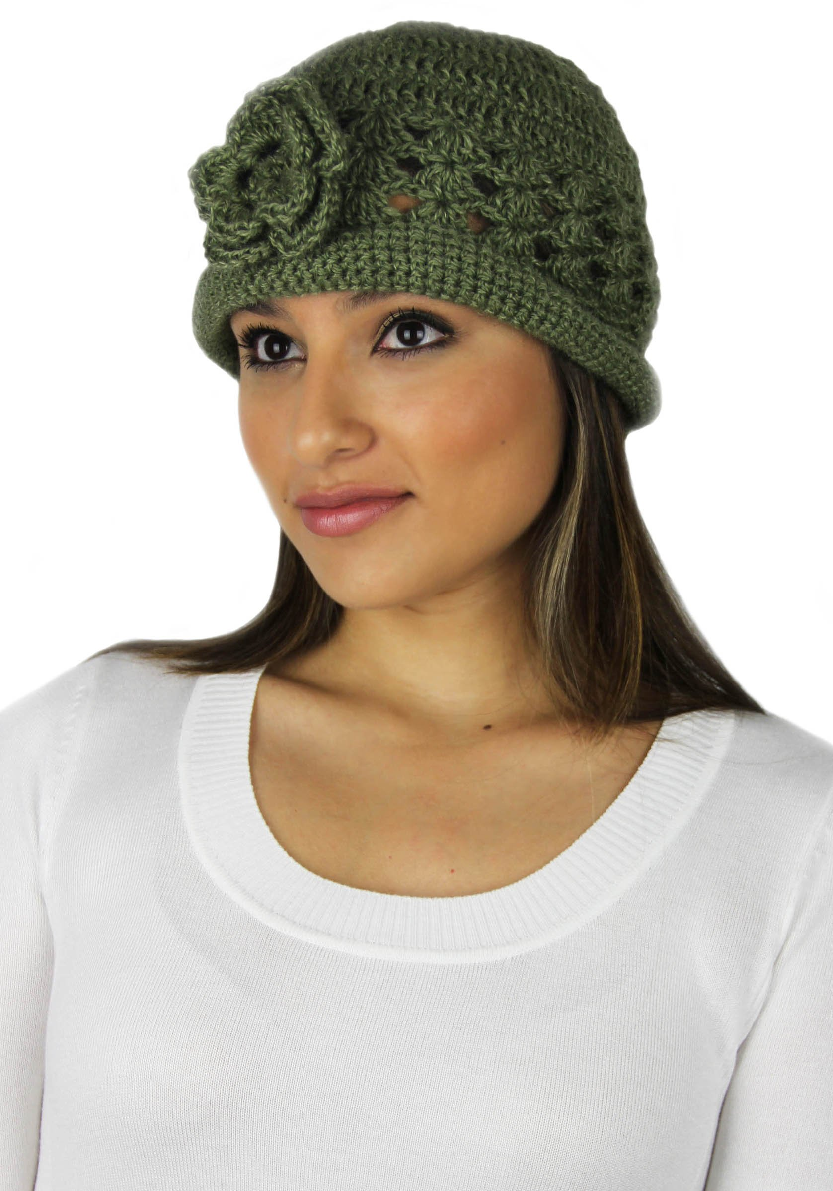 MADE TO ORDER IN ANY COLOR - Vintage Inspired Alpaca and Wool Hat (Olive) by BARBERY Alpaca Accessories