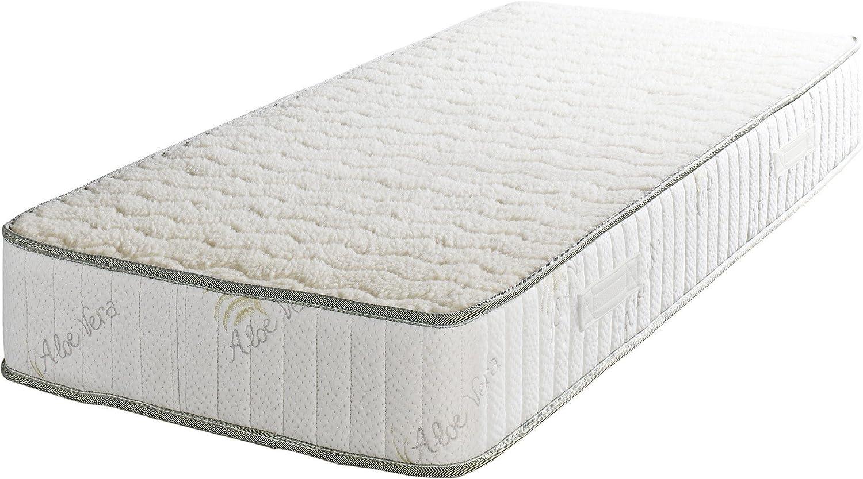 King of Dreams: colchón Super Deluxe de espuma de látex indeformable, lana de oveja merina 100%, tela al áloe vera, altura de 23cm, firme, ortopédico, 160_x_190_cm