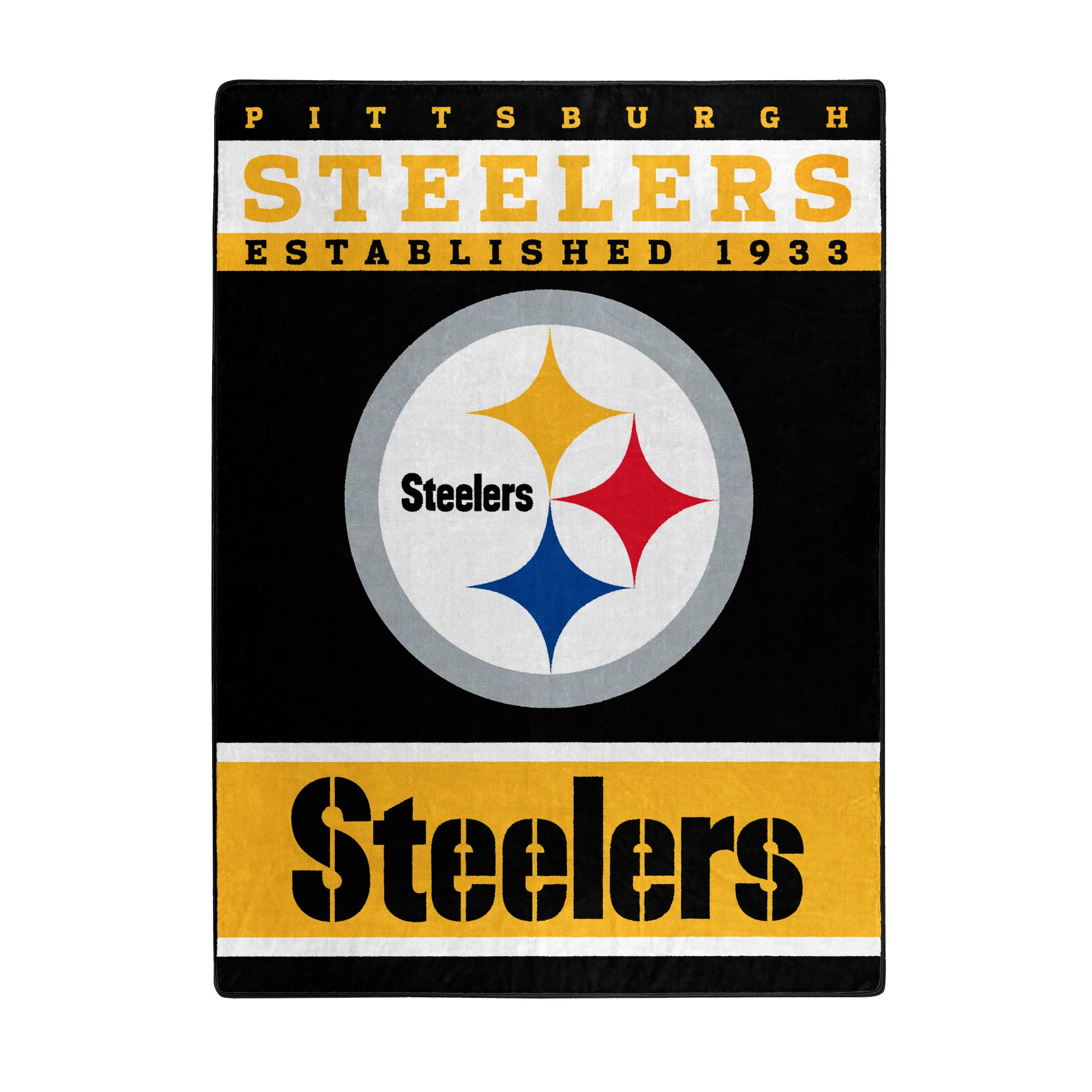 The Northwest Company Officially Licensed NFL Pittsburgh Steelers 12th Man Plush Raschel Throw Blanket, 60'' x 80'', Multi Color by The Northwest Company