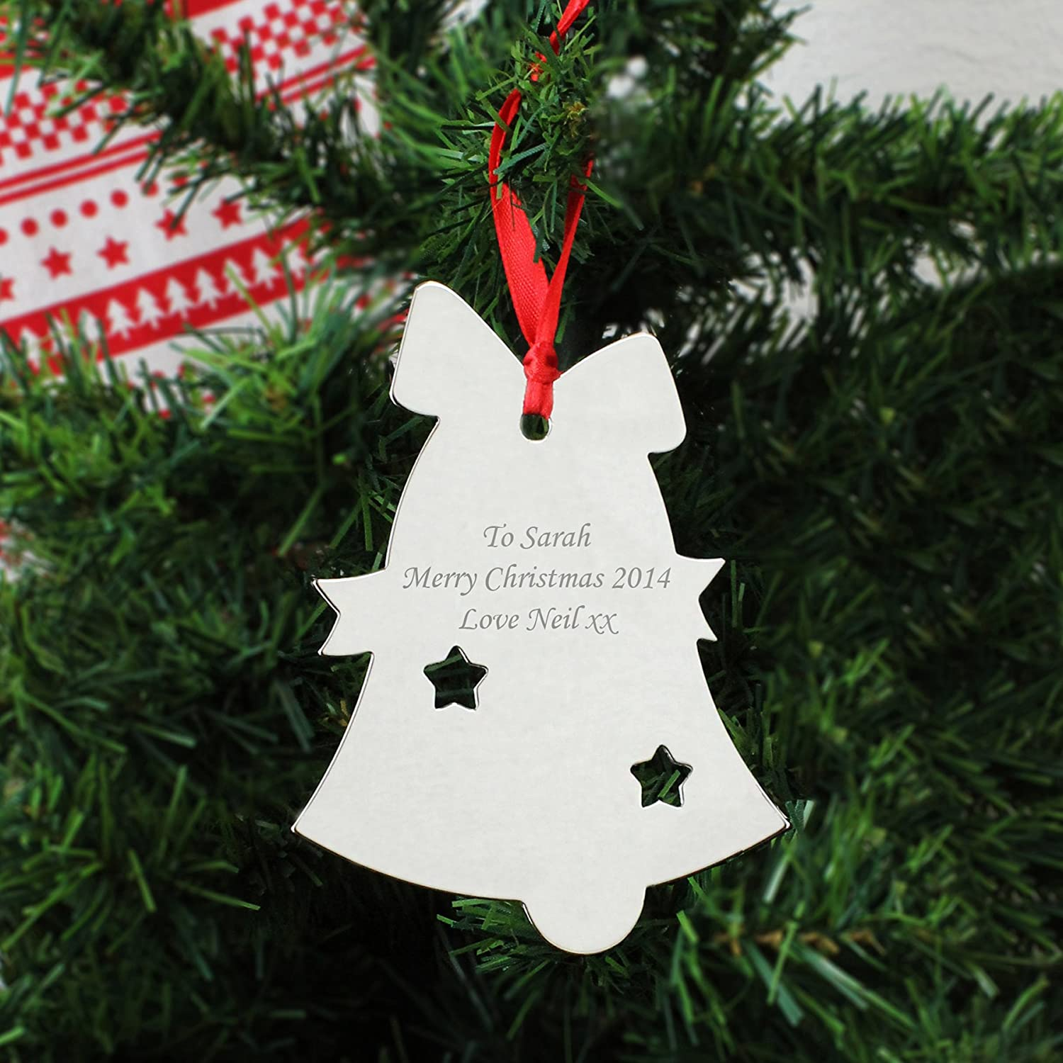 personalised christmas decorations bell amazon co uk toys u0026 games