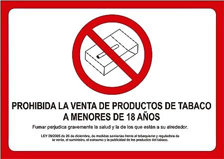 Cartel Prohibida la Venta de Tabaco a Menores de Edad ...