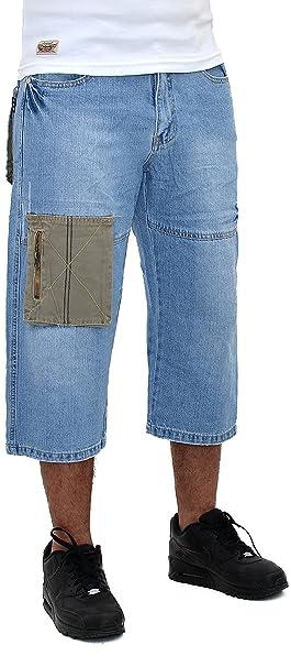 c58e37388a Herren Caprihose Herren Bermuda Jeans Herren Sommer Hosen Herren Cargo  Capri Hosen - B125