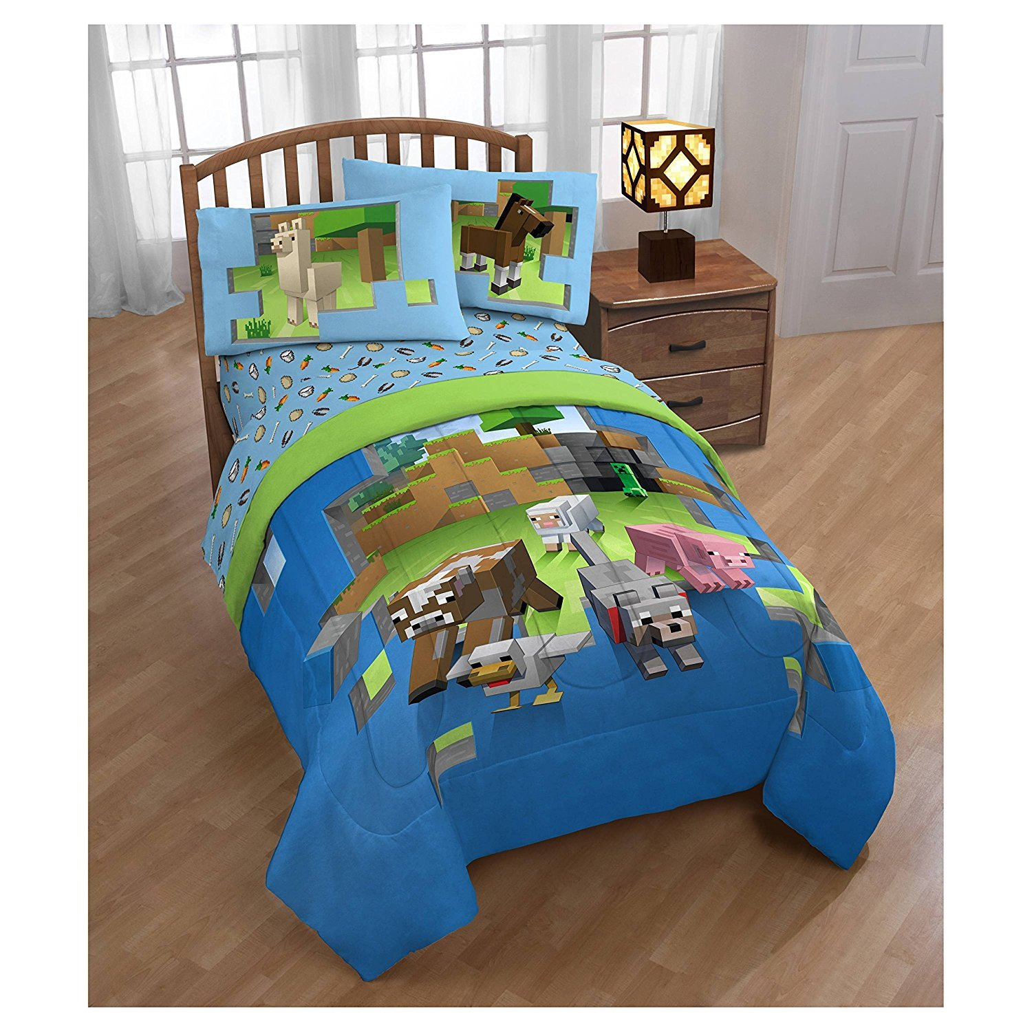 Minecraft Animals TWIN Comforter & TWIN Sheets ~Very Hard to Find~ Fast Shipping