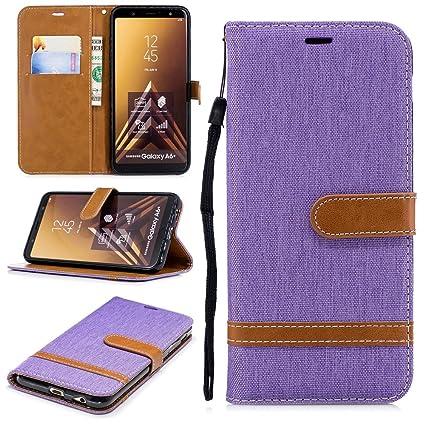 buy online 3fac1 35c6f Amazon.com: Luckyandery Galaxy A6 plus wallet case,Galaxy A6 plus ...