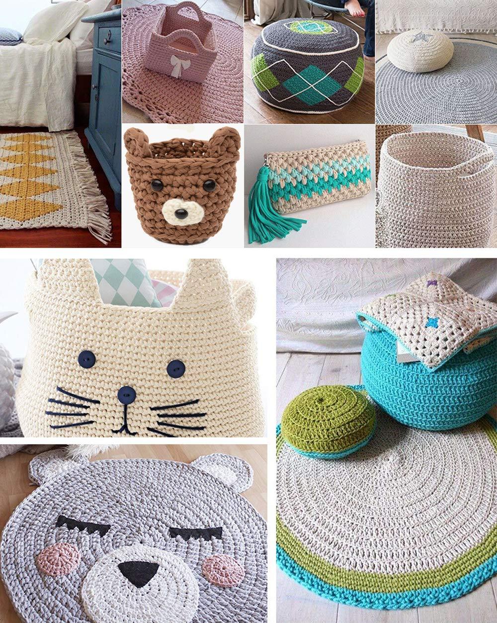 Amazon.com: Hilo de tejer tela de tela para camiseta, lana ...