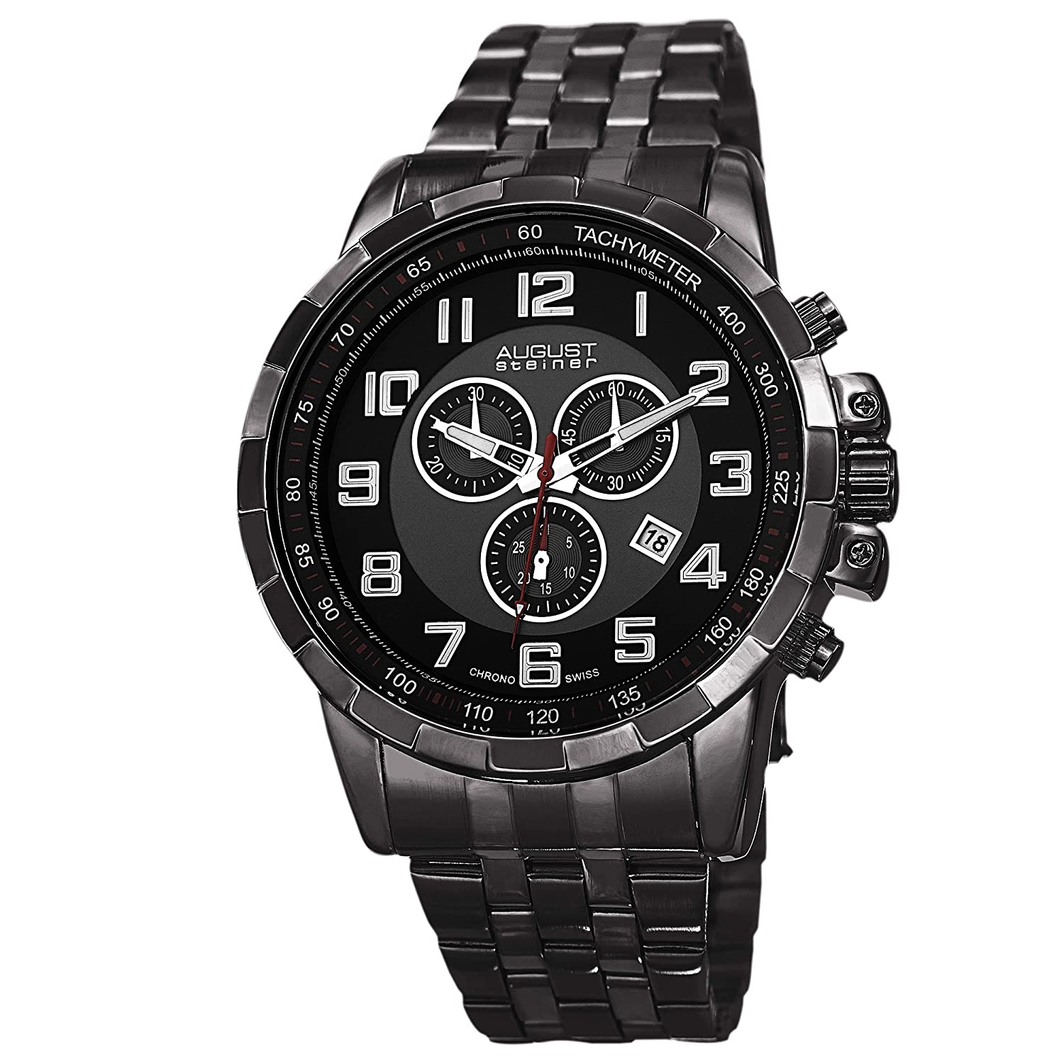 August Steiner Herren-Armbanduhr Man AS8118BK Analog Quarz AS8118BK