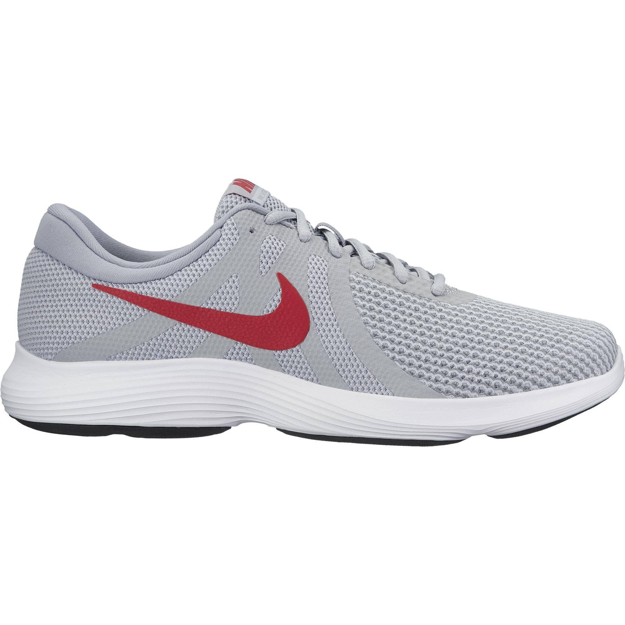 d9f228ba834 Galleon - Nike Men s Revolution 4 Running Shoe Wolf Grey Gym Red Stealth White  Size 14 M US
