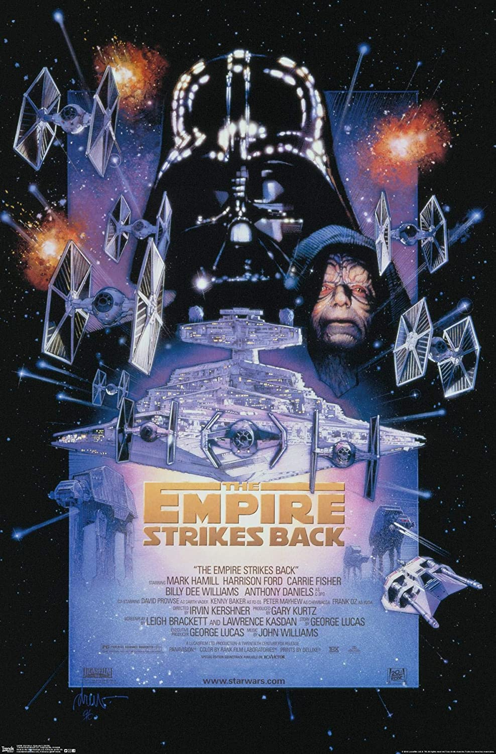 Trends International 24x36 Star Wars The Empire Strikes Back One Sheet Wall Poster 24 X 36 Premium Unframed Version Posters Prints