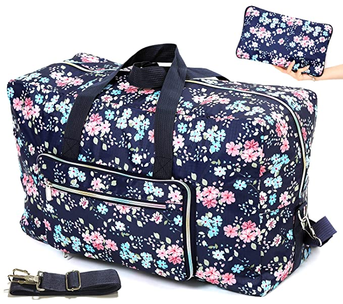 Amazon.com: Bolsa de viaje plegable para mujer, 50 L, con ...