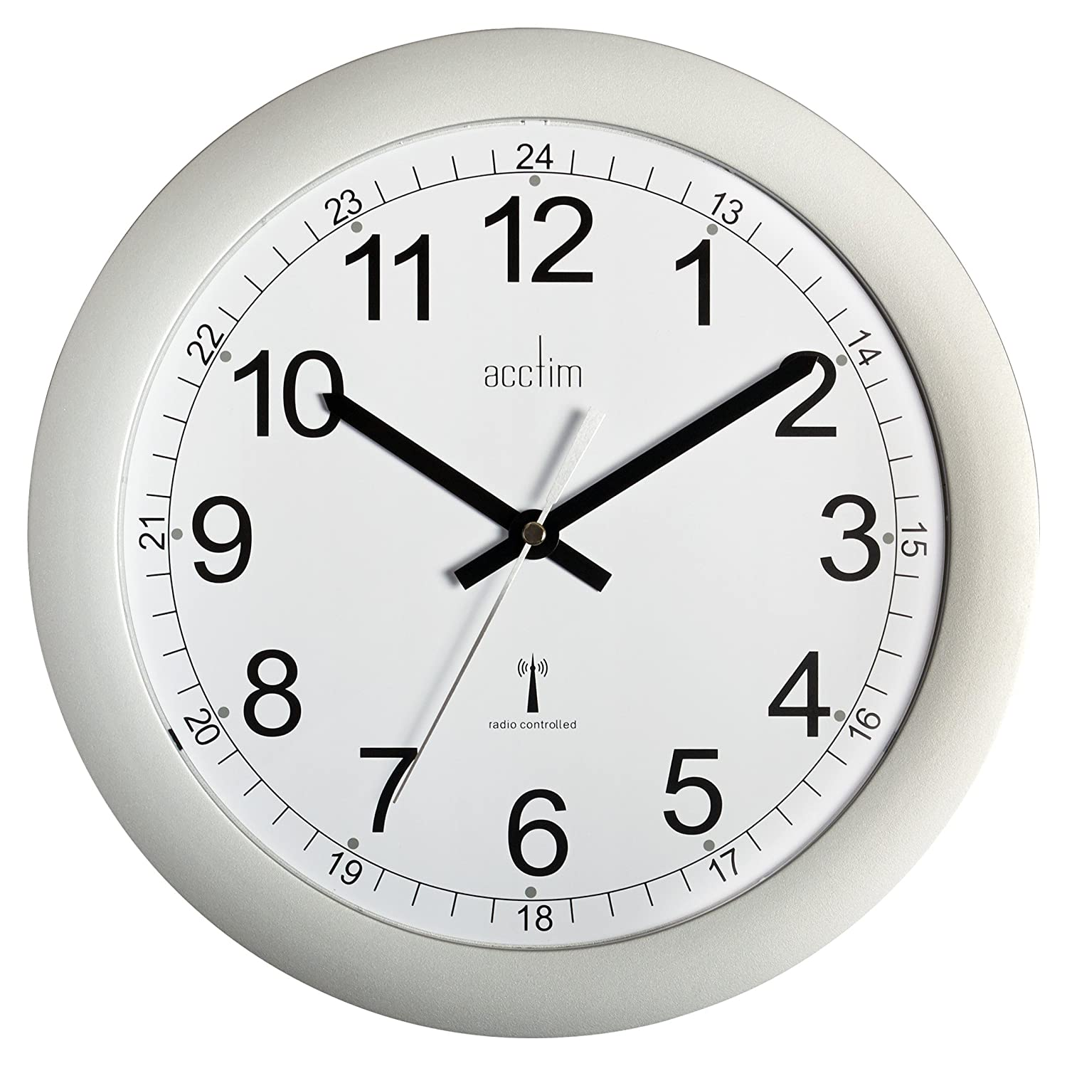 Acctim 74417 formia radio controlled wall clock silver amazon acctim 74417 formia radio controlled wall clock silver amazon kitchen home amipublicfo Choice Image
