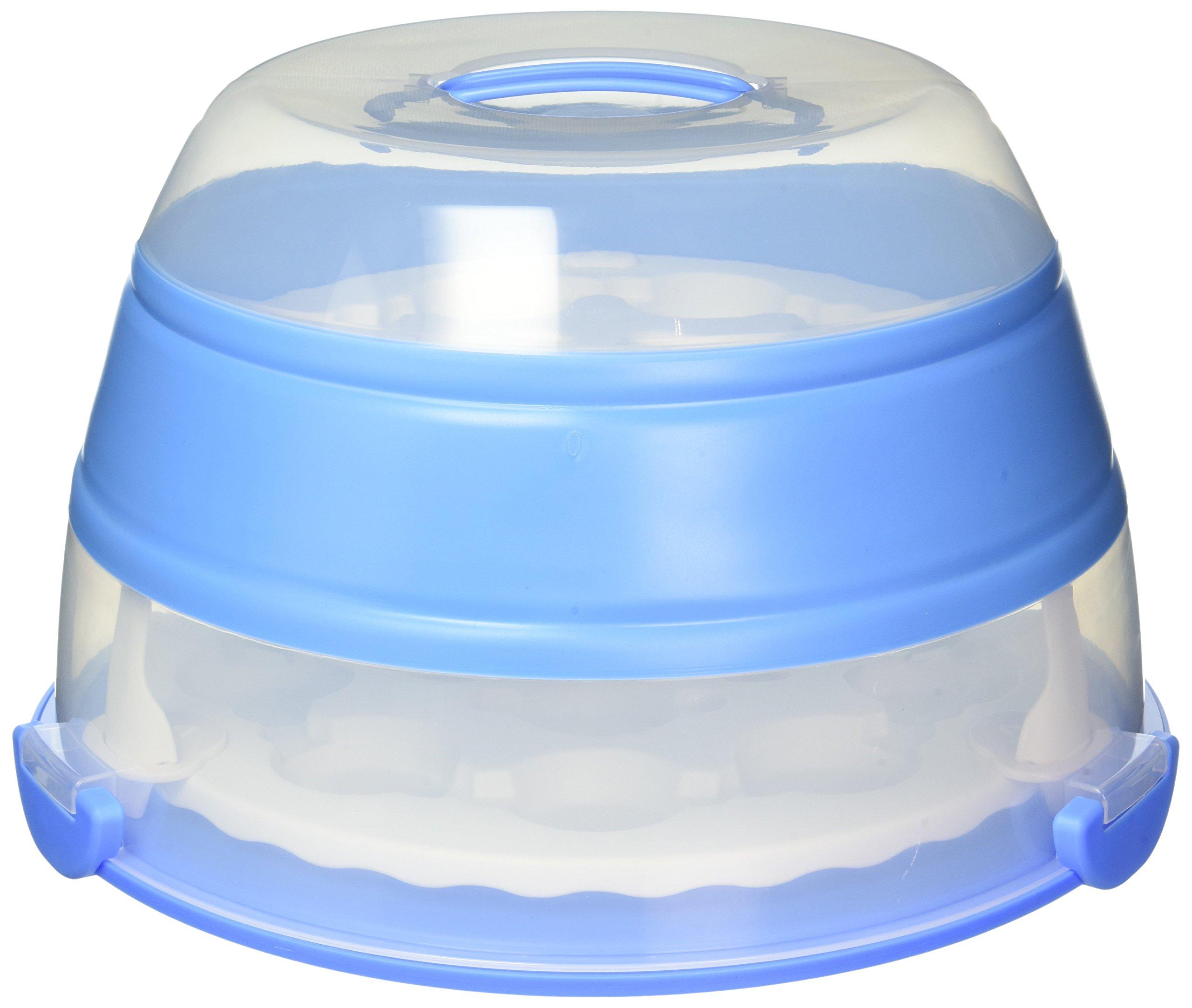Prepworks by Progressive Collapsible Cupcake & Cake Carrier, Holds 24 Cupcakes by Progressive