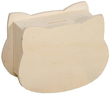 Artemio 14001241 Tirelire En Bois A Decorer Tete De Ctoque 15cm X