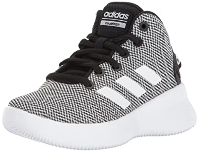 adidas NEO Boys' CF Refresh Mid K Sneaker,Core Black/White/Core