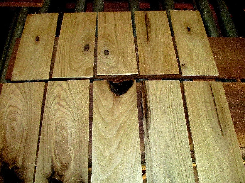 10 Pack 3//4 x 2 x 16 Solid Butternut Hardwood Lumber as Cutting Board Wood Boards
