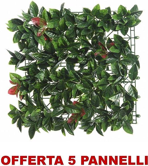 Oferta 5 paneles setos artificial Photinia 10 x 100 x 100 cm verde decoro Casa Jardín: Amazon.es: Jardín