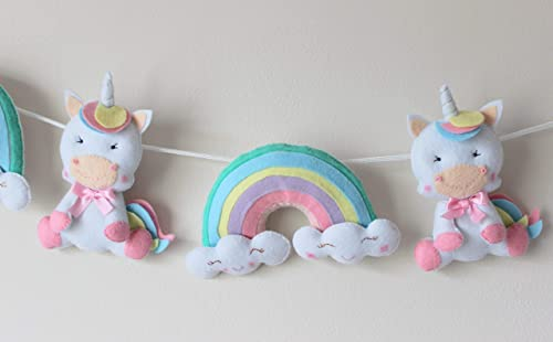 Decoración dormitorio bebé unicornio y arcoiris, regalo ...