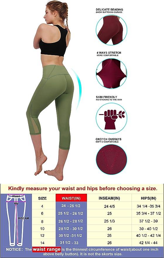 Amazon.com: Leggings de yoga de cintura alta, control de ...