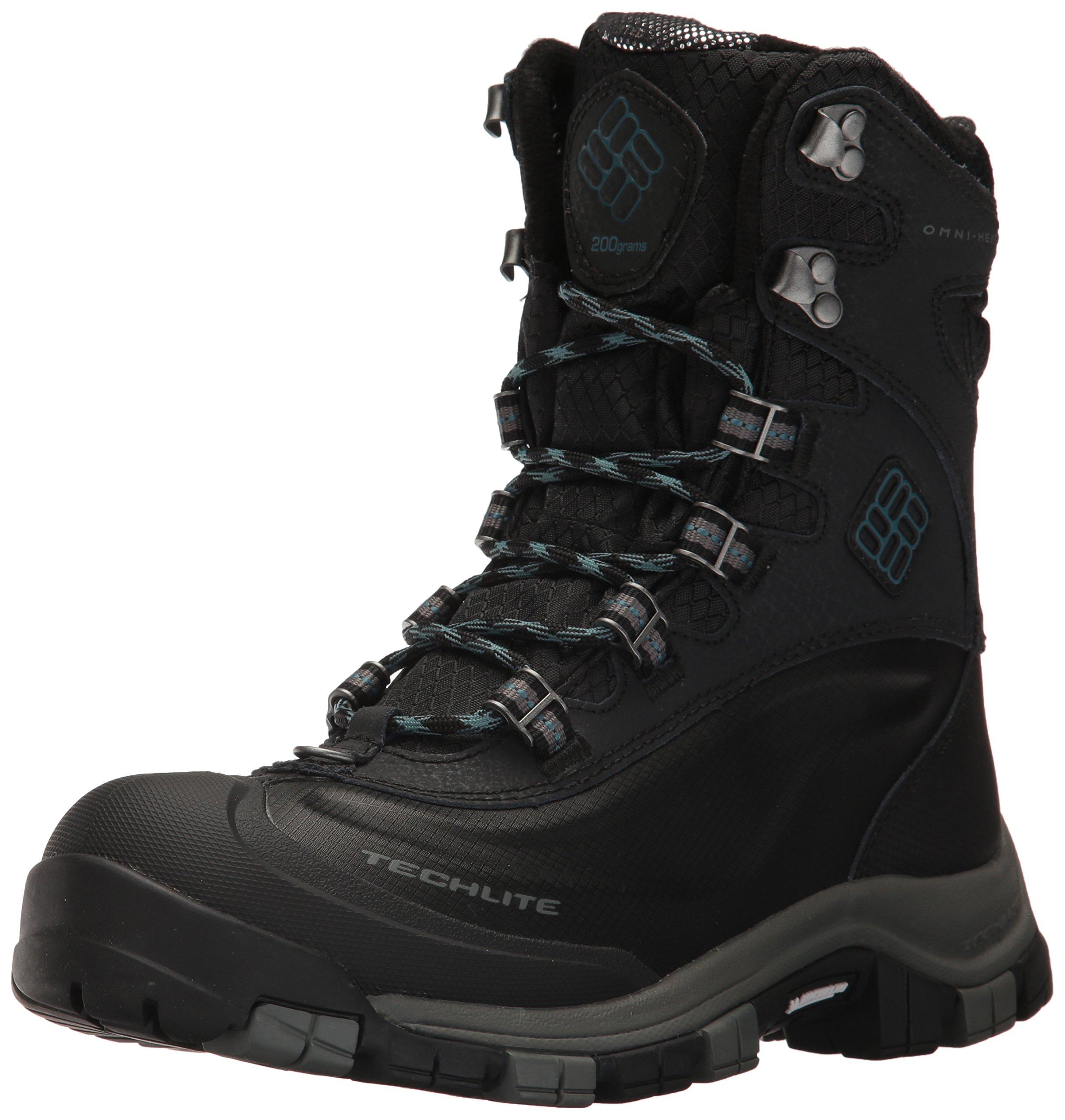 Columbia Women's Bugaboot Plus Omni-Heat Michelin Snow Boot, Black, Cloudburst, 9 B US