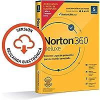 Norton 360 Deluxe 2021 - 5 Dispositivos, 15 Meses, para PC/Mac, Código de activación enviado por email