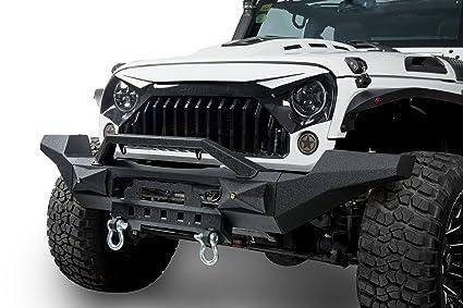 amazon com u box 2007 2018 jeep jk transformer front bumper w winch