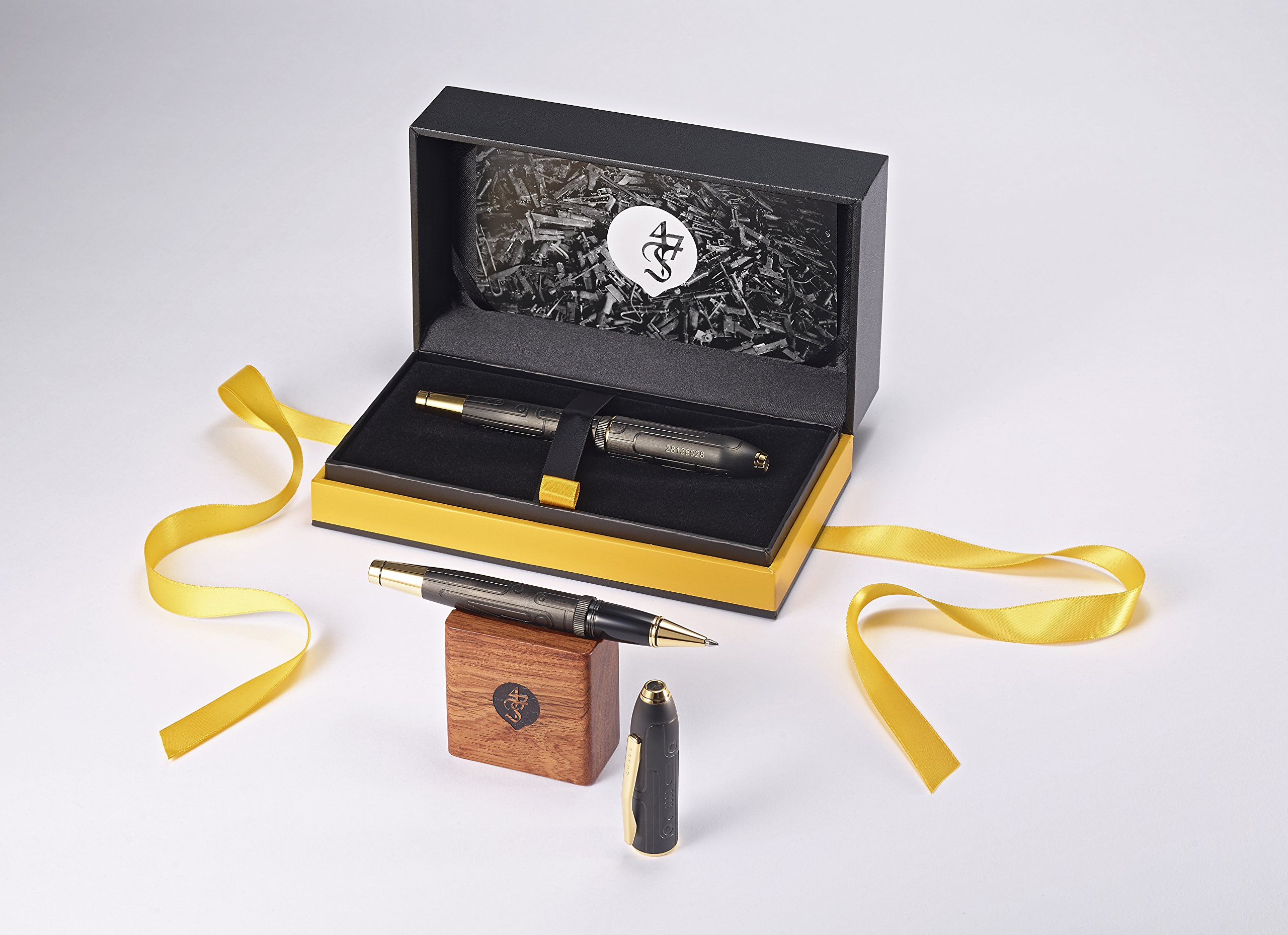 Cross Peerless Fonderie 47 Collector's Edition Matte Black PVD Selectip Rollerball Pen with 23KT Gold-Plated Appointments by Cross (Image #10)