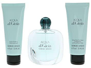 5724d1af9a Giorgio Armani Acqua Di Gioia 50ml Eau De Parfum, 75ml Shower Gel and 75ml  Moisturising