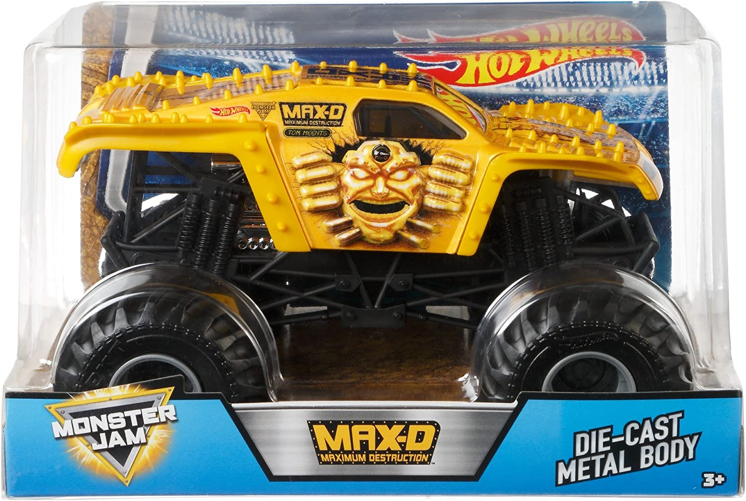 Amazon Com Hot Wheels Monster Jam Gold Max D Vehicle Toys Games