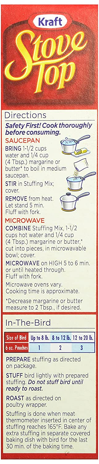 Amazon Stove Top Stuffing Mix Cornbread 6 Ounce Box Pack Of