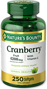 Cranberry Pills w/ Vitamin C by Nature's Bounty, Supports Urinary &