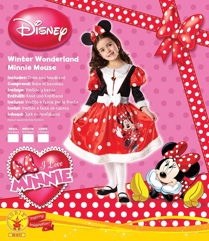 Rubbies - Disfraz de Minnie Mouse para niña, talla M (5-6 años) (881872M): Amazon.es: Juguetes y juegos
