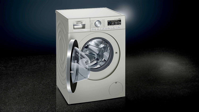 Siemens IQ700 WM14VMS1 - Lavadora de acero inoxidable (9 kg/A+++ ...