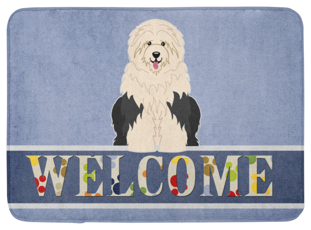 Caroline 's Treasures bb5677rug Old English Sheepdog Welcomeフロアマット、19 x 27、マルチカラー   B06WRNGS56