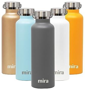 MIRA Alpine Botella de agua de acero inoxidable aislada al ...