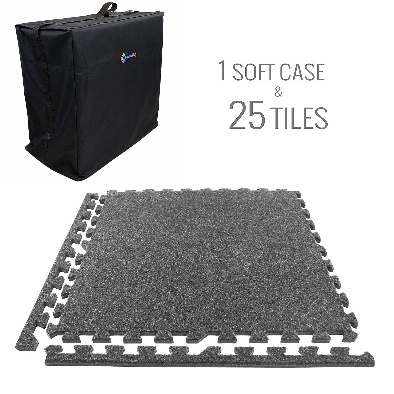 IncStores Eco-Soft Carpet Foam Tiles Burgundy - 25 Tiles