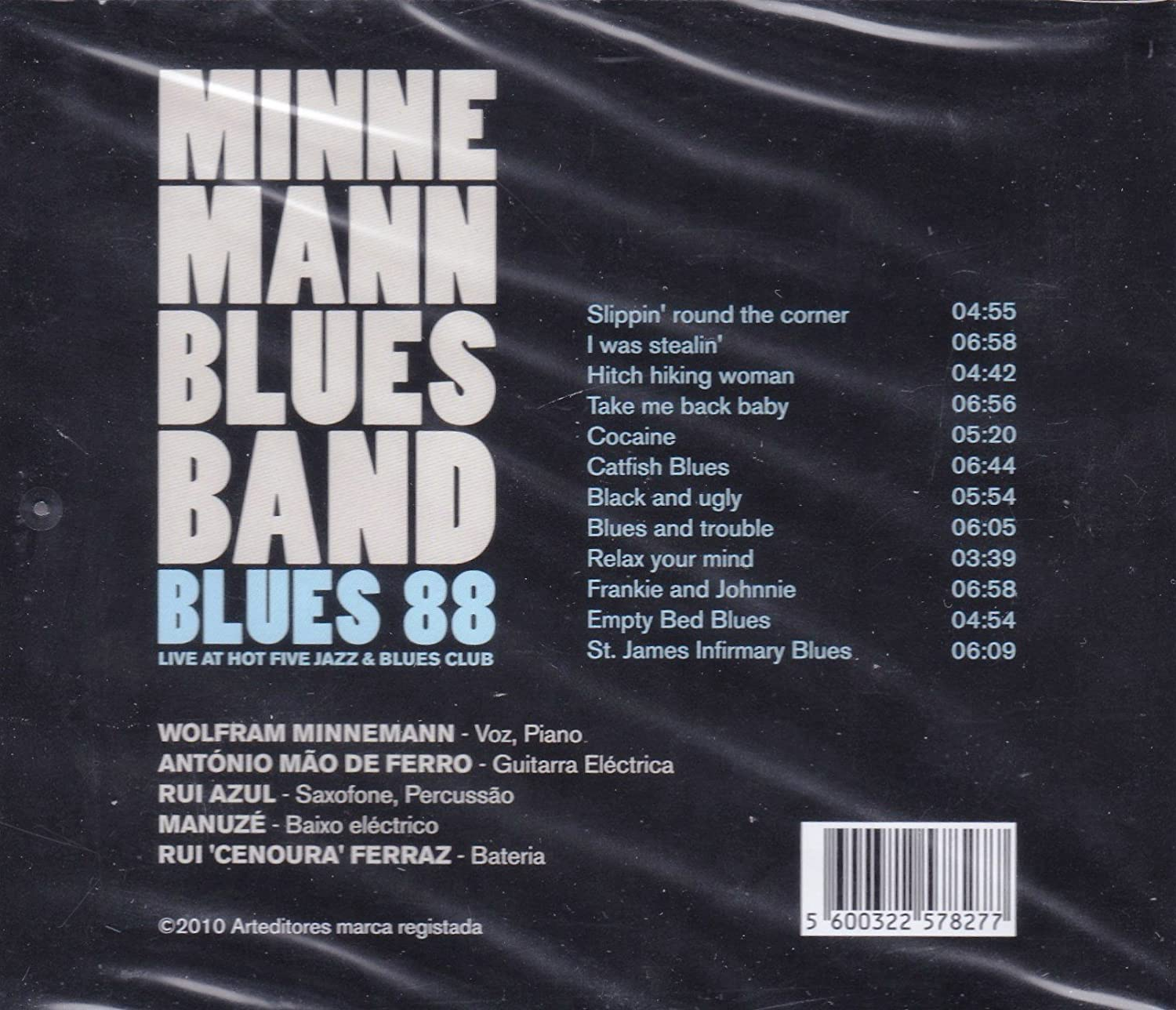 Minneman Blues Band - Minneman Blues Band - Blues 88 - Live At Hot Five Jazz & Blues Club [CD] - Amazon.com Music