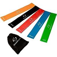 Starwood Sports ® Lot de bandes élastiques d'exercice - yoga - Pilates - rééducation - homme - femme - latex naturel