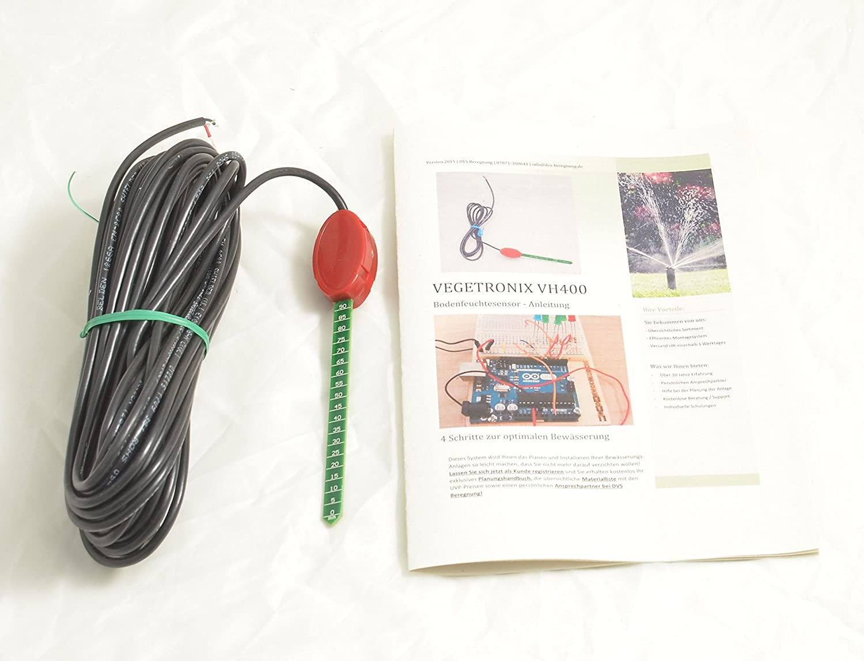 Vegetronix VH400 Bodenfeuchte Sensor 10m Kabel inkl. Infos zur Installation, Betrieb und Programmierung