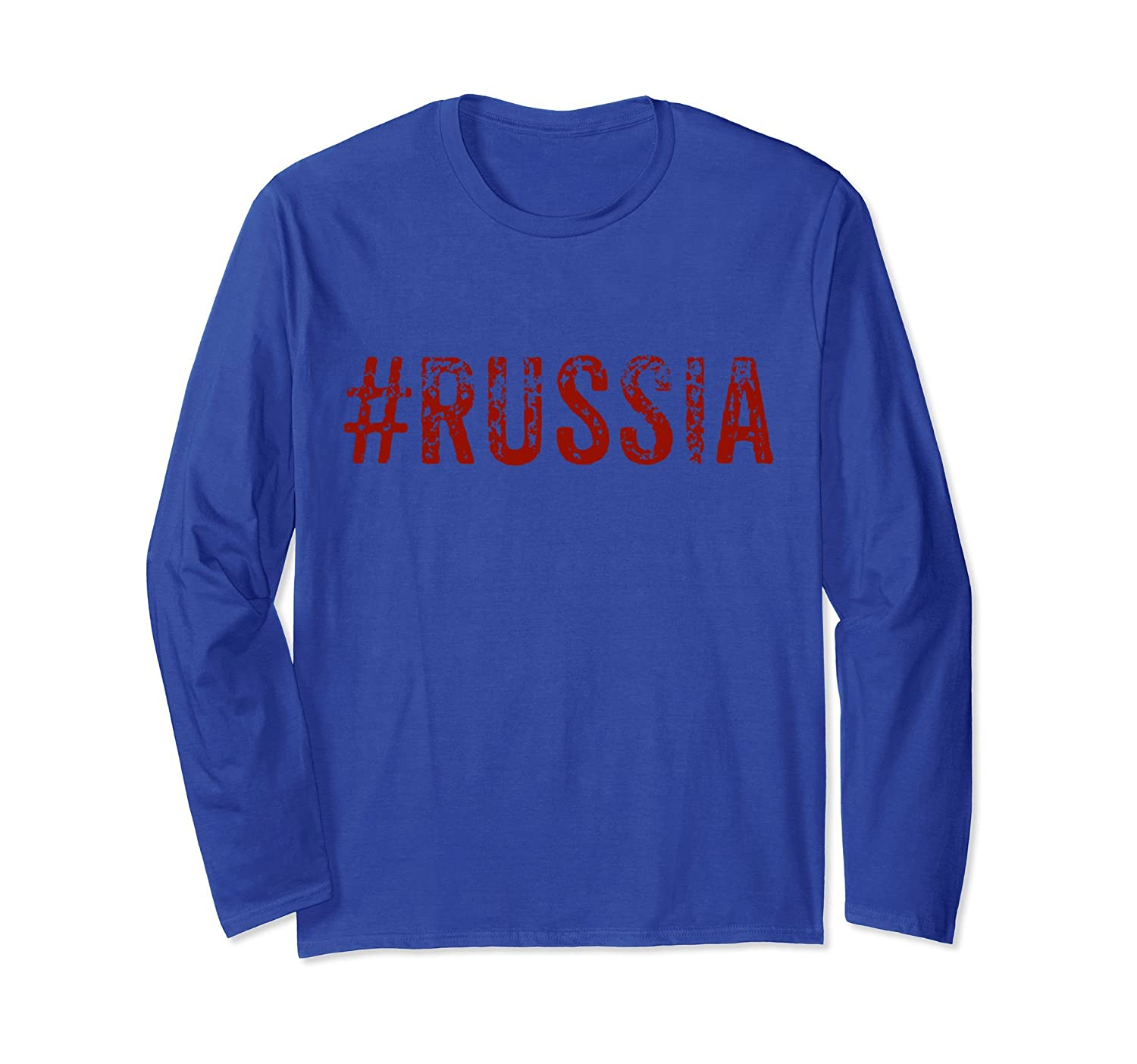 #Russia Patriotic Long Sleeve T-shirt-Rose