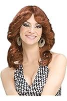 Forum Novelties Women's 70's Disco Doll Auburn Costume Wig