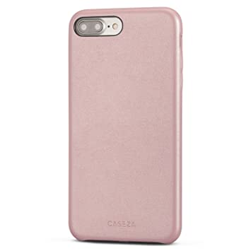 CASEZA Funda iPhone 8 Plus/Funda iPhone 7 Plus Rosa Oro Rome Piel PU Case Cover Carcasa Tapa Trasera Piel Vegana Premium para Apple iPhone 8 Plus & 7 ...